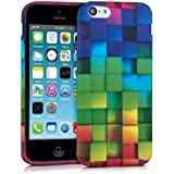 kwmobile Funda para Apple iPhone 5C - Case para móvil en TPU silicona - Cover trasero Diseño arco iris dado en multicolor verde azul