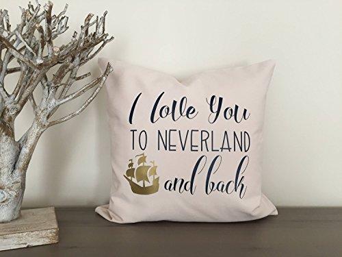 an Neverland Kissenbezug Ich Liebe Dich Pirat Schlafzimmer Kindergarten Kissenbezug 18 X 18 in Kids Custom Sham Nimmerland verloren Junge ()