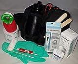 apotier24 1.-Erste-Hilfe-Set speziell für den Hund (mit 0,5 l-Flasche)-schwarz- -- enthält NUR Artikel die wirklich beim Hund benutzt Werden können - für Notfall, Wanderung, Sport, Jagd