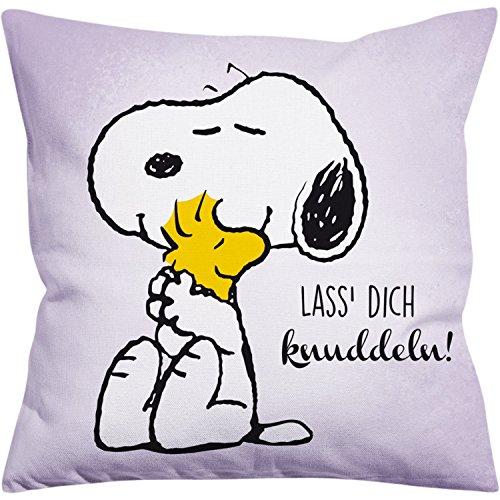 Peanuts Snoopy Collection - Kissen Lass Dich knuddeln!, 40 x 40 cm