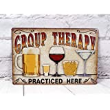 SIGNCHAT Group Therapy beoefend hier Retro Vintage Tin Sign metalen tin bord 8x12 inch