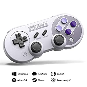 8Bitdo SN30 Pro Wireless Bluetooth Controller mit Joysticks Rumble Vibration USB-C Kabel Gamepad für Windows, Mac OS, Android, Linux, Raspberry Pi, Steam etc.