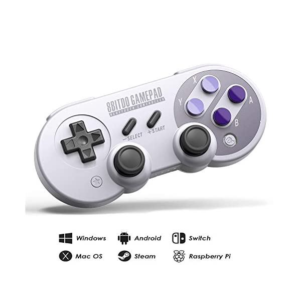 8Bitdo SN30 Pro Wireless Bluetooth Controller with Joysticks Rumble Vibration USB-C Cable Gamepad for Windows, Mac OS, Android, Linux, Raspberry Pi, Steam, etc 51mnetB5aAL