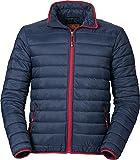 Nordcap Herren Stepp-Jacke in Daunenoptik, Leichte Outdoorjacke in Blau mit lässigen Kontraste in Rot, tolle Übergangs- & Winterjacke (Gr. M - XXXL)
