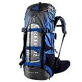 YAAGLE Outdoor Rucksack Trekkingrucksack Camping Rucksack Nylon Bergsteigen Tasche Marken Reise-Tasche (grau+blau)