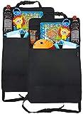 ZAROSO Rückenlehnenschutz für Auto Kinder (2 Stück) von ZAROSO mit großer Tasche und Tablet-/iPad-Fach, Auto-Rücksitz-Organizer für Kinder, Autositz-Schoner wasserdicht, Kick-Matten-Schutz