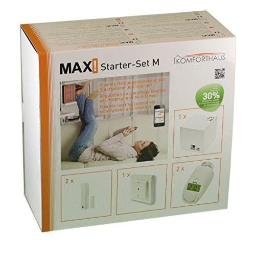 """komforthaus Starterset M """"MAX!"""" Intelligente Heizungssteuerung über LAN, PC, SmartPhone, Tablet, Pro Version mit stabilen Metallmuttern - 7"""