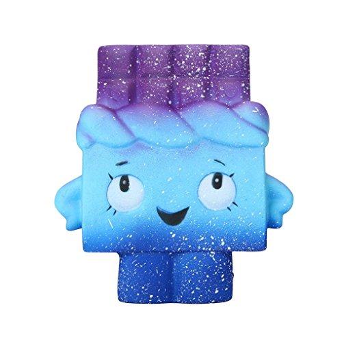 FORH Kinder Squeeze Spielzeug Cute Sternenklares Regenbogen Spielzeug Komisch Langsam Steigende Dekompression Squeeze Spielzeug Kawaii Zuhause Stressabbau Dekoration (A, One Size)