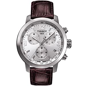 Tissot t0554171603700 42mm stainless steel case brown leather anti reflective sapphire men 39 s for Anti reflective watches