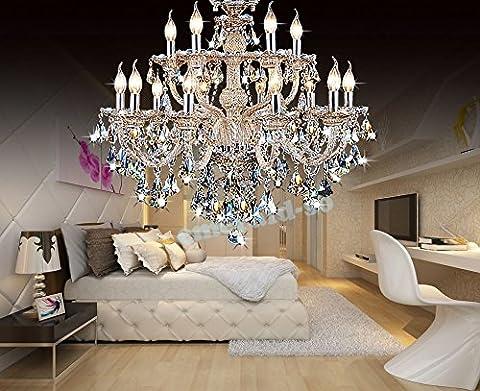 18 lumières lustre en cristal lampe de plafond Ligh,85*Île 72cm