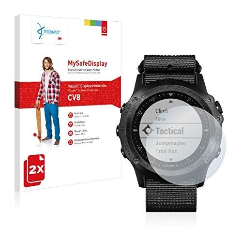 2x Vikuiti MySafeBildschirm CV8 Bildschirmschutz Schutzfolie für Garmin Tactix Bravo (Ultraklar, strak haftend, versiegelt Kratzer)