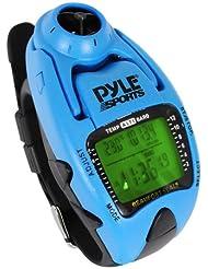 Pyle Uhr Windgeschwindigkeitsmesser mit Gefühlt Temp Höhenmesser Barometer Kompass Yacht-Timer