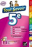 Tout savoir 5e Nouveau programme : pour réviser dans toutes les matières (Tout savoir collège) (French Edition)
