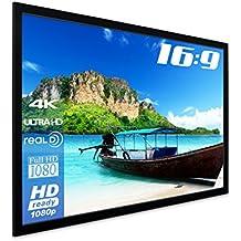 'eSmart Germany 3d de marco de lienzo mirale Plata | ancho total 284cm | Representación superficie 266x 149cm (120), formato de imagen 16: 9| con Completo maskierung | Modelo 2016
