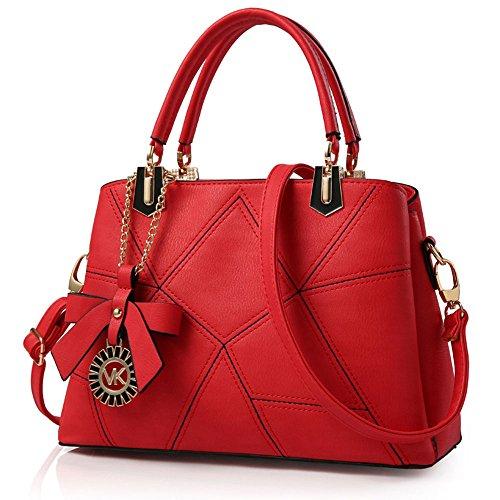 FavoMode, Borsetta da polso donna marrone Braune Handtasche taglia unica Rote Handtasche