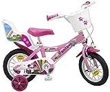 Kinderfahrrad Fantasy 12 Zoll mit Puppensitz weiß rosa