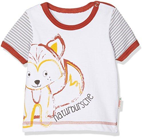 Adelheid Baby - Jungen T-Shirt Naturbursche® Bio Leibchen k. A. Albglück 14171086941, Einfarbig, Gr. 50 (Herstellergröße:50/56), Weiß (blütenweiss 100) (Bio-baumwoll-t-shirt Glücks)