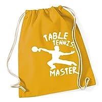 HippoWarehouse Table Tennis Master Drawstring Cotton School Gym Kid Bag Sack 37cm x 46cm, 12 litres