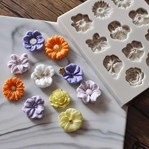 figuras kawaii porcelana fria Caballo de carrusel molde de silicona Fondant pasta de azúcar para tartas alfombrilla de diseño de cupcake molde de silicona para decoración de dulces Cupcakes decoración dulces #05