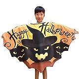 TEBAISE Lustige Kinder Halloween Laterne Gesicht Kürbis Kostüm Shirt Kleinkind Kinder Baby Mädchen Halloween Kleid und Fledermaus Flügel Outfit(Orange,FREIE GRÖSSE)
