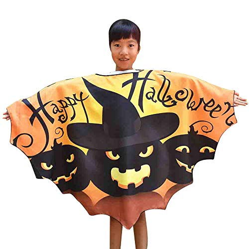 TEBAISE Lustige Kinder Halloween Laterne Gesicht Kürbis Kostüm -