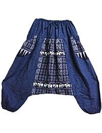 334f1af9282a Mr.Bangkok Hommes Femmes 100% Coton Sarouel Sarouel Genie Baggy Pantalon De  Yoga