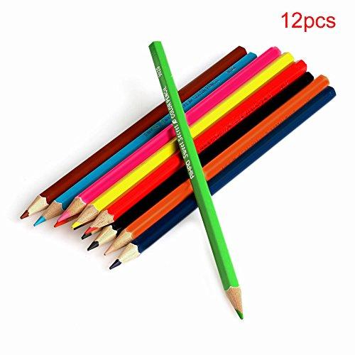 Dairyshop Nouveau Dessin 12 couleur Crayons cadeau Conçu pour les étudiants Artistes Crafters