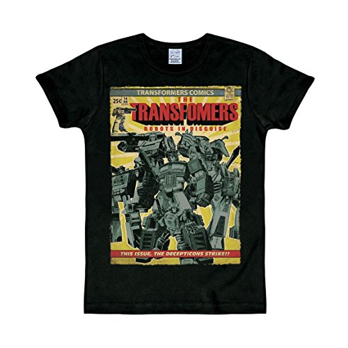 T-Shirt Transformers - Rundhals Shirt - Rundhals Shirt von LOGOSHIRT - schwarz - Originaldesign, Größe XS