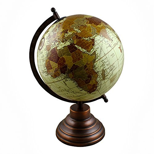 RoyaltyRoute Desktop Globe World Map with Stand Learning Resources for Kids & Teachers, Office & School, 13 Inches