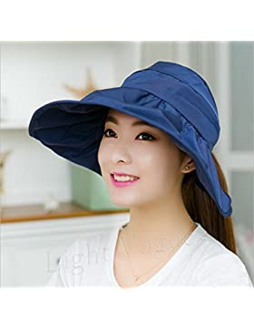 Verano Womens parasol plegable de ala ancha Sun UV protegen Hat Playa Marina Caps  HNAA