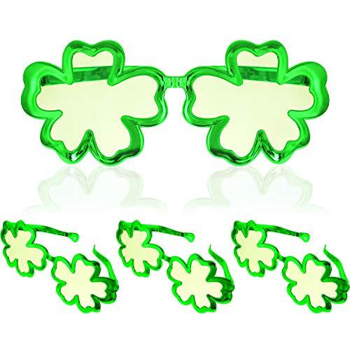 Kostüm Patricks St Tag - Boao 4 Stück St. Patrick's Tag Shamrock Brillen Irish Klee Brillen für St. Patrick's Tag Party Kostüm Favors (Farbe 2)
