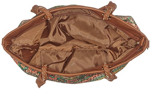 Marco Tozzi Ladies 61022 Tote Bag, 32x31x11 Cm Multicolore (verde / Arancione)