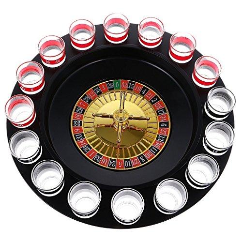 welim potable ruleta giratoria de cristal ruleta beber la ruleta juego Shot juego de beber para bares y fiestas con 16taza color al azar