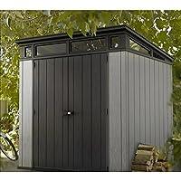 Cobertizo de jardín para almacenamiento al aire libre para bicicletas, herramientas, muebles, techo