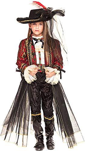 Costume di carnevale da corsara prestige ragazza vestito per ragazza bambina 7-10 anni travestimento veneziano halloween cosplay festa party 28009 taglia 10/xl