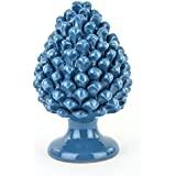 Pigna Blu Decorativa in Ceramica di Caltagirone Fatta a Mano