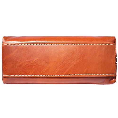 Schulter- und Handtasche mit Doppelgriff 6886 Bräune