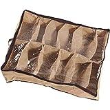 12 casos zapatos almacenamiento organizador multiusos zapatos Holder bolsa caja debajo de la cama armario marr¨®n