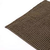 hlniubi Bad Pad Baumwolle hochwertige Matte Teppich absorbierende Fußmatte Bad Anti-Rutsch-Bad Brauner Kaffee_50 * 80 cm