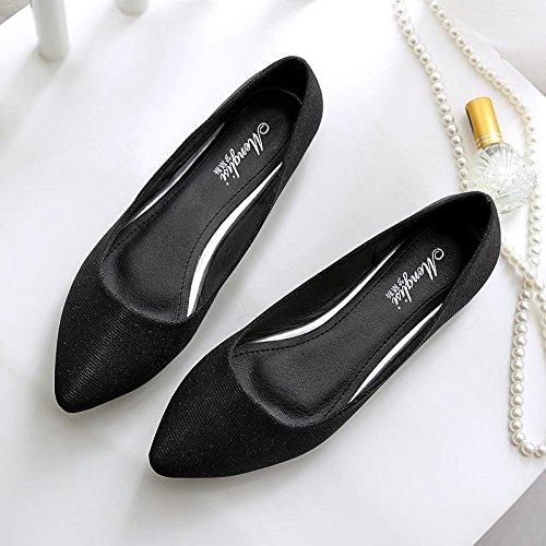 &qq Chaussures, chaussures pour femmes, chaussures à talon plat, chaussures professionnelles quatre saisons, chaussures de mode 37