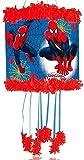 Novità Spiderman Uomo Ragno con cordino da tirare Piñata & Benda Festa Per Bambini Gioco