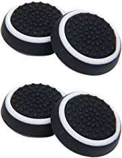 Segolike 4Pieces Replacement Controller Joystick Thumbstick Cover Caps Grips for Sony PlayStation 4 PS4 Console (Black)