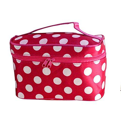 Make-up Taschen für Frauen Reise Portable Kosmetiktasche Große Foldingstorage Wasserdichte Waschbeutel Red