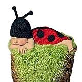 Cute Caterpillar Stil Baby Infant Newborn Handmade Haken Beanie Hat Clothes Damen Baby Photograph Props Set