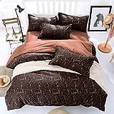 DOTBUY Bettbezug Set, 4 Teilig Bettwäsche 220 x 240cm 100% Polyester Mikrofaser Karikatur Gemütlich Printing Bettbezug-Set (Freude)