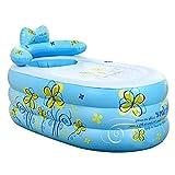 Inflatable Bath Home Verdicktes Bad für Erwachsene Modische Faltbadewanne Badewanne für Kinder Faltbare Sprudelbadewanne lindern Müdigkeit (Farbe: Blau, Größe: 130x75x70cm)