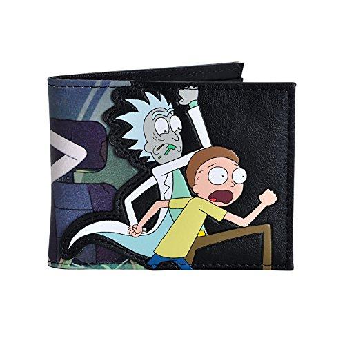 Rick y Morty Saludos cartera! 10,8x8,6x1,5cm negro