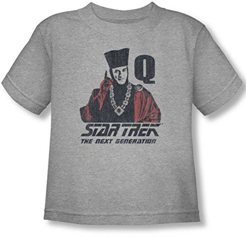 Star Trek - Kleinkind Q-Punkt-T-Shirt, 4T, Athletic Heather