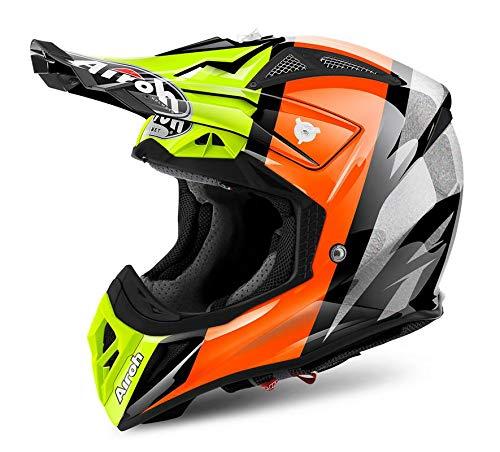 Airoh - casco moto cross airoh aviator 2018 revolve orange gloss av22rv32 - caa28a - xs