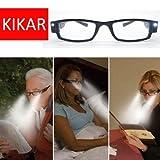 kikar (+ 3.00) Unisex Gafas de Lectura de luz LED con carcasa de elegante Resistente-Mejorar Su Vision incluso en la oscuridad.
